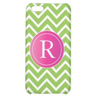 Lime Green Chevrons Cover For iPhone 5C