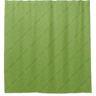Lime Green Circular Line Pattern Shower Curtain