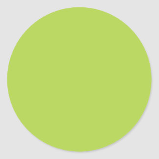Lime Green Classic Round Sticker