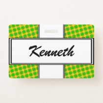 Lime Green Clover Ribbon by Kenneth Yoncich Badge
