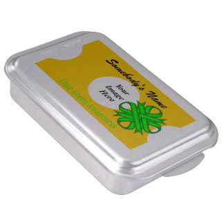 Lime Green Clover Ribbon by Kenneth Yoncich Cake Pan