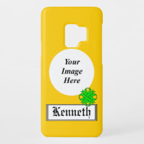 Lime Green Clover Ribbon by Kenneth Yoncich Case-Mate Samsung Galaxy S9 Case