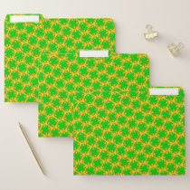 Lime Green Clover Ribbon by Kenneth Yoncich File Folder