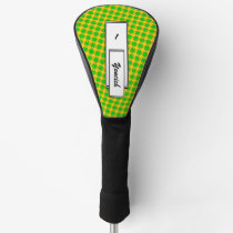 Lime Green Clover Ribbon by Kenneth Yoncich Golf Head Cover