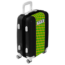 Lime Green Clover Ribbon by Kenneth Yoncich Luggage