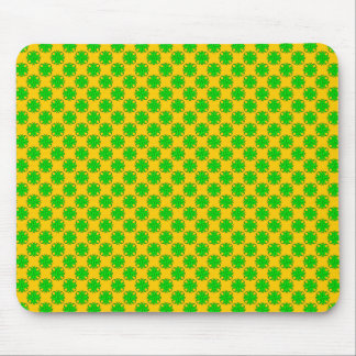 Lime Green Clover Ribbon by Kenneth Yoncich Mouse Pad