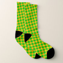 Lime Green Clover Ribbon by Kenneth Yoncich Socks