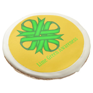 Lime Green Clover Ribbon by Kenneth Yoncich Sugar Cookie