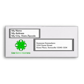 Lime Green Clover Ribbon Envelopes