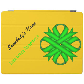 Lime Green Clover Ribbon iPad Cover