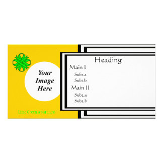 Lime Green Clover Ribbon Template