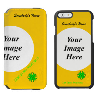Lime Green Clover Ribbon Template iPhone 6/6s Wallet Case
