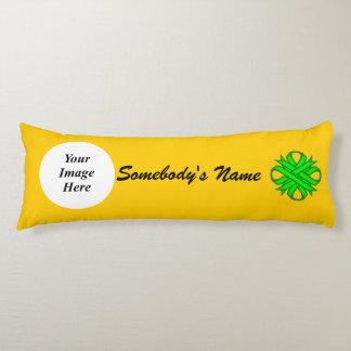Lime Green Clover Ribbon Template Body Pillow