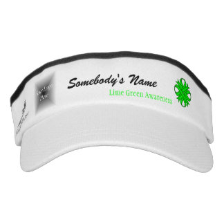 Lime Green Clover Ribbon Template Visor