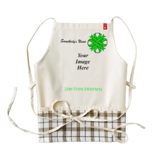 Lime Green Clover Ribbon Template Zazzle HEART Apron