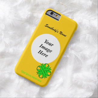 Lime Green Clover Ribbon Tmpl by Kenneth Yoncich Barely There iPhone 6 Case