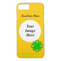 Lime Green Clover Ribbon Tmpl by Kenneth Yoncich iPhone 8/7 Case