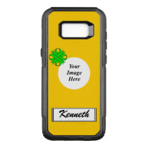 Lime Green Clover Ribbon Tmpl by Kenneth Yoncich OtterBox Commuter Samsung Galaxy S8  Case