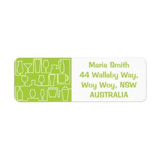 Lime green cocktail party label