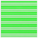 [ Thumbnail: Lime & Green Colored Stripes Fabric ]