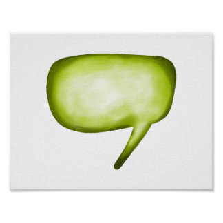 Lime Green Comic Word Bubble Poster