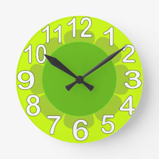 Lime Green country kitchen Wall Clock
