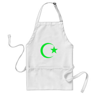 Lime Green Crescent & Star.png Apron