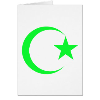 Lime Green Crescent & Star.png Card