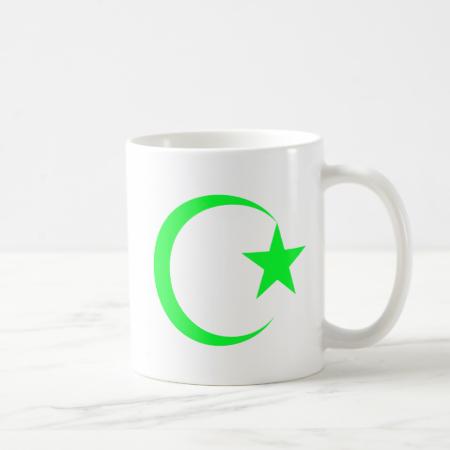 Lime Green Crescent & Star.png Mug