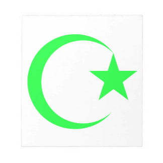 Lime Green Crescent & Star.png Notepad
