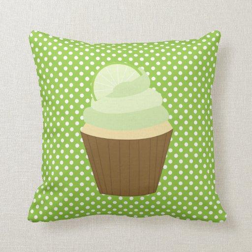 Lemon Green Throw Pillow : Lime Green Cupcake Throw Pillow Zazzle