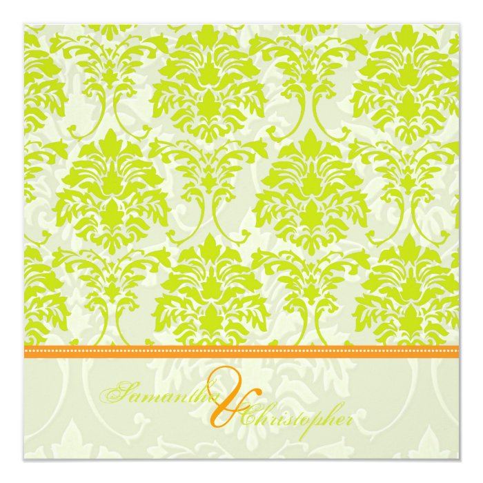 damask accents in green - photo #1