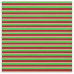 [ Thumbnail: Lime Green, Dark Red & Dark Salmon Colored Lines Fabric ]