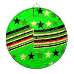 Lime green dart boards