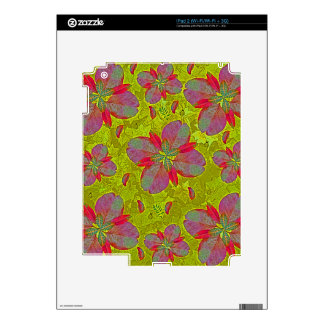 Lime Green Deco Decal For iPad 2