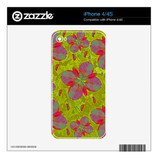 Lime Green Deco iPhone 4S Skins