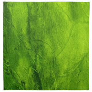 Lime Green Design Printed Napkin