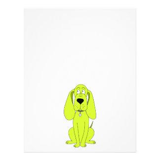 Lime Green Dog. Cute Hound Cartoon. Custom Flyer
