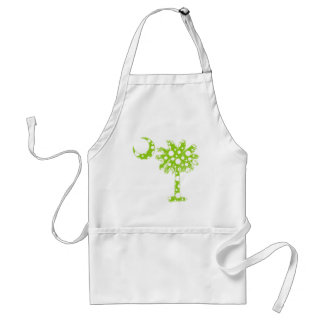 Lime Green Dots Palmetto Adult Apron