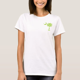 Lime Green Dots Pocket Palmetto T-Shirt
