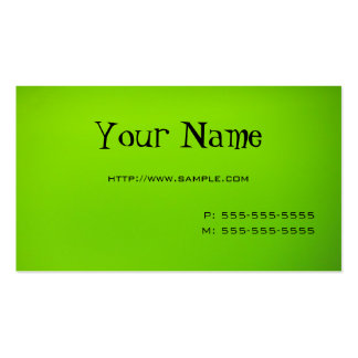 Lime Green Double-Sided Standard Business Cards (Pack Of 100)