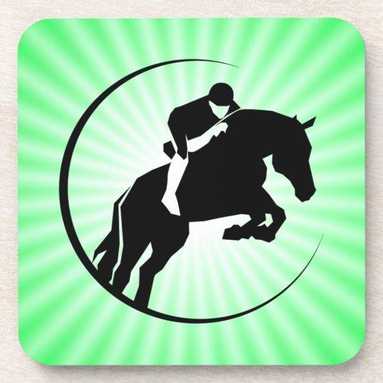 Lime Green Equestrian Coaster