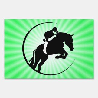 Lime Green Equestrian Lawn Signs