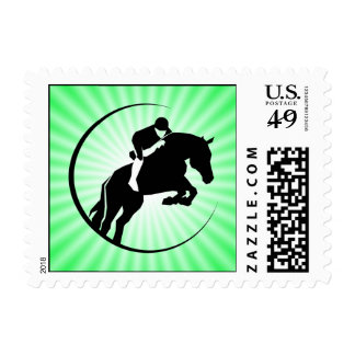 Lime Green Equestrian Stamp