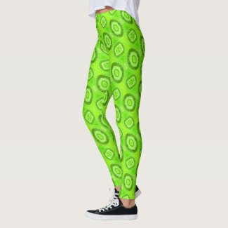 Lime Green Eye of God Leggings