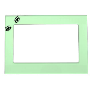 Lime Green Eyes in corner Photo Frame Magnet