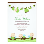 Lime Green Fairy Baby Shower 5x7 Paper Invitation Card