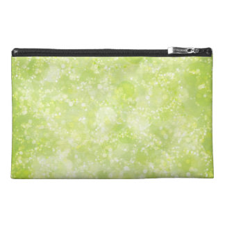 Lime Green Fairy Dust Bokeh Travel Accessory Bags