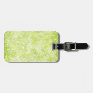 Lime Green Fairy Dust Bokeh Bag Tag
