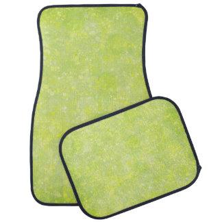 Lime Green Fairy Dust Bokeh Car Floor Mat